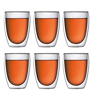 Bodum PAVINA Double Walled Thermo Glasses, 0.36 L, 12 oz, Pack of 6 (B001HX4IYS) | Amazon price tracker / tracking, Amazon price history charts, Amazon price watches, Amazon price drop alerts