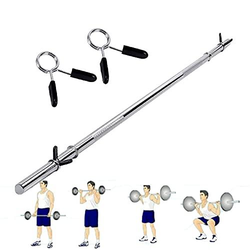 LXX Barras Mancuerna Barra Olímpica, Barra Olímpica Levantamiento de Pesas Barra Musculación Bar de Formación - Entrenamiento de Bíceps y Tríceps