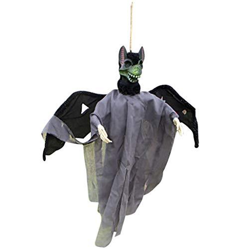 IHGTZS Halloween Ghost Hanging Decorations,Halloween Decorations Scary Creepy Ghost Decoration - Sound Control - Hang on Trees, Walls, balconie - Perfect Halloween Decorations - 23.6inch