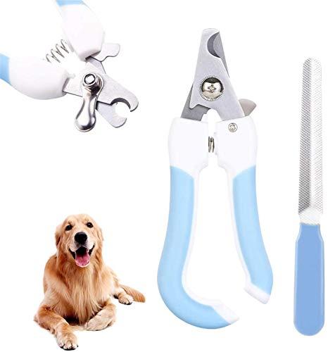 Tagliaunghie Cane E Lima Unghie Professionale in Acciaio Inossidabile per Cani Gatti Medi e Grandi (Color : Blue)