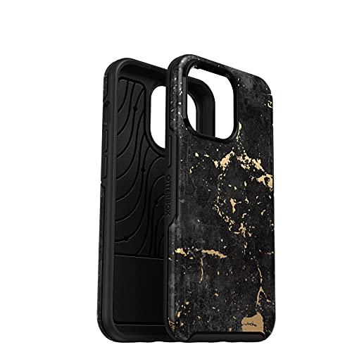 OtterBox für Apple iPhone 13 Pro, Schlanke, sturzgeschützte Schutzhülle, Symmetry Serie, Enigma - Schwarz/Gold
