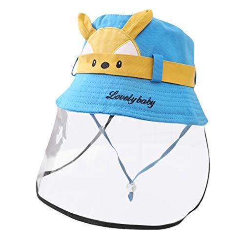 FEYTUO Sombrero Protector Anti-escupir, Cubierta a Prueba De Polvo Tapa del Pescador Cubierta Facial Antiniebla Sombrero De Moda para Niños Sombrero Ligero, Antipolvo