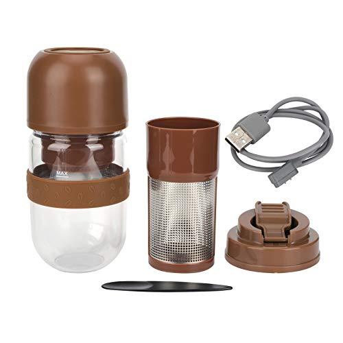 330 ml 2 en 1 moulin à café électrique automatique jus tasse cuisine petits appareils USB terrains de charge thé en vrac filtre réutilisable