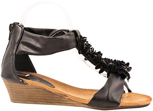 Elara Sandalias de Mujer Tacón de Cuña Abierto Chic Chunkyrayan