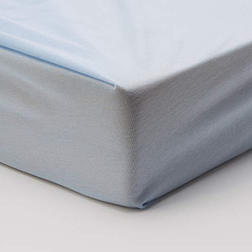 Hippychick matrasbeschermer Tencel-hoeslaken, 60 x 120 cm, lichtblauw voor kinderbedden