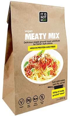 Mezcla de Carne Vegana Instantánea Perfecto para cocinar 200g   proteína de soja   Vegano   100{79460da53e40dd6e6b2d8cc09d3ea6949eccf8eb72d82fdbb8adcba9ebe541fc} Sin Gluten (Pack de 1)