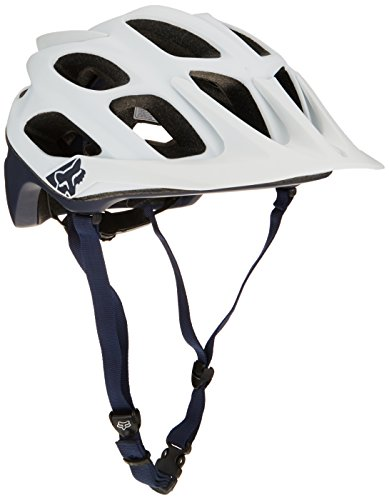Fox Herren Flux Creo Helm, weiß (White/Navy), S/M