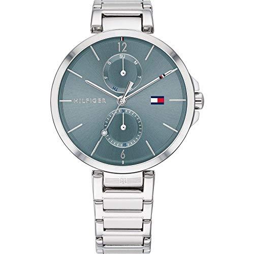 Tommy Hilfiger Reloj Analógico para Mujer de Cuarzo con Correa en Acero Inoxidable 1782126