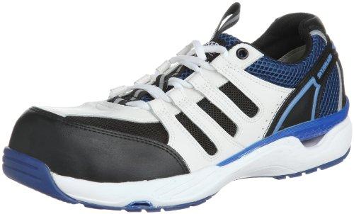 [ミドリ安全] 安全作業靴 JSAA認定 通気 プロスニーカー MPV01 メンズ ホワイト/ブルー 29.0(29cm)