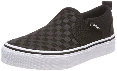 Vans Asher, Jungen Sneakers, Schwarz (checker/black/black), 37 EU
