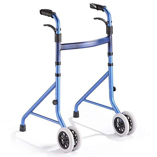 ZhuFengshop Oude Man Vouwen Walker Aluminium Rollator Met Wiel Gehandicapten Persoon Wandelen Stick Wandelen Auto Stabiliteit