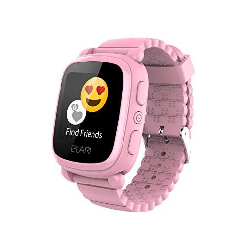 Reloj Inteligente Elari KidPhone 2 para niños. El Mejor Reloj para niños con rastreador GPS (GPS/GLONASS/LBS Tracking). Reloj Inteligente Elari con Pantalla táctil Brillante y Chat de Voz Rosa(Pink)