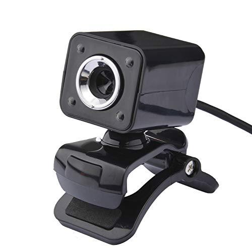 GAX USB Webcam, HD Night Vision Computer Camera, 4LED Nachtzicht Verlichting Camera, Professionele Optische Lens, Ontworpen voor Laptops En Bureaubladen