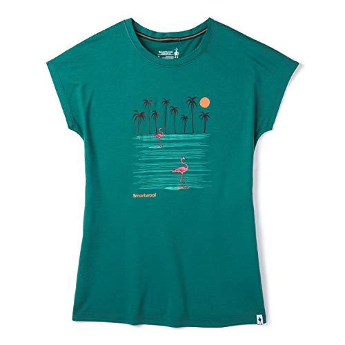 Smartwool Merino Sport 150 Surfing Flamingos T-shirt voor dames