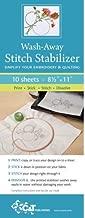 Wash Away Stitch Stabilizer: Simplify Your Embroidery & Quilting: Print, Stick, Stitch & Dissolve