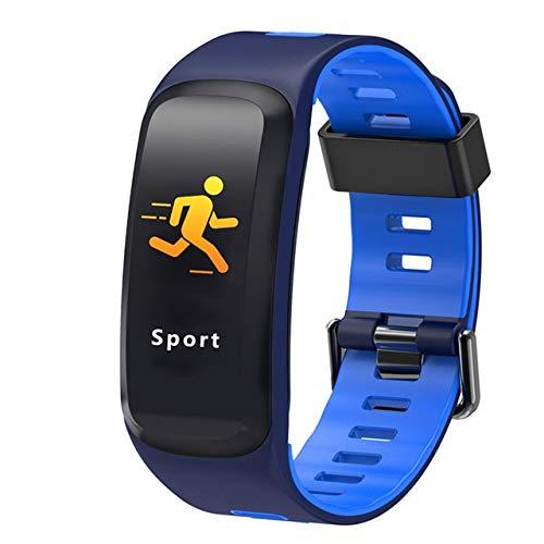 POKQHG Mode Smart Horloge Man Vrouwen Voor Ios Android Met Sport Fitness Slaap Monitoring Ip68 Waterdichte Afstandsbediening Camera Relogio Feminino, Blauw