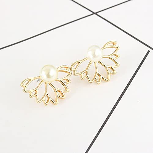 DFDLNL Conjuntos de Pendientes para Mujer Aros Pendientes de Diamantes de imitación de Loto Retro Pendientes de Flores de Cristal para Mujer Regalo del día de San Valentín 3