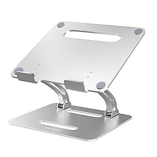 Vanskyノートパソコンスタンド パソコンスタンド PCスタンド 高さ/角度調整可能 姿勢改善 腰痛/猫背解消 折りたたみ式 ノートPCスタンド 滑り止め アルミ合金製 ホルダー 軽量 Macbook/Macbook Air/Macbook Pro/iPad/ノートPC/タブレットなど17インチまでに対応
