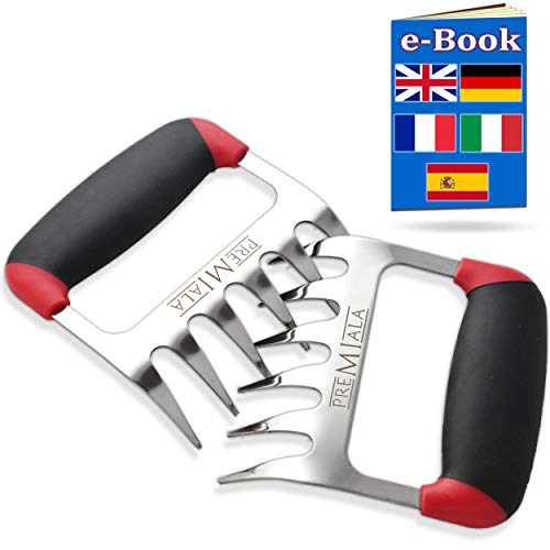 Incredible 3-in-1 Meat Shredder Claws for Pulled Pork Shredding, Handling and Carving....