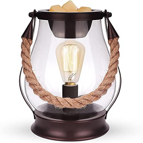 SALKING Elektrische Duftlampe Für Wachs, Retro Laternen Aromalampe Für Duftwachs, Wachs wärmer Mit LED Bulb, Duft Wärmer Nachtlicht, Kerzenwärmer Lampe für Schlafzimmer,Geburtstagsgeschenke für Frauen
