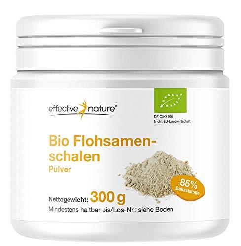 Bio Flohsamenschalen Pulver - Für eine effektive Darmreinigung, 85% Ballaststoffe, 300 g