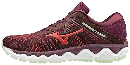 Mizuno Women's Horizon 4 Running Shoe, Mauve Wine-Cayenne, 8.5 B