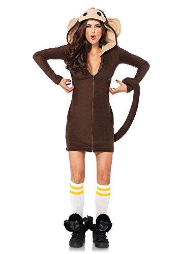 Leg Avenue Cozy Monkey Disfraz para Mujer Mono Mono Disfraz Caliente Calle Carnaval