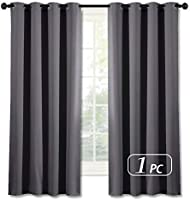 NICETOWN Blackout Curtains for Bedroom Grommet Top Single Panel