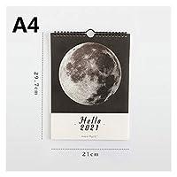 カレンダー 2021年 Doリスト引き裂き可能なデスクカレンダーデコレーションクリエイティブカレンダーに1PC壁掛け2021カレンダーアジェンダ365日毎日プランナーノート タイムプラン (Color : A4)