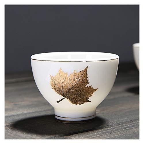 YSJJQSC Taza de Agua Jade Porcelana Taza de té dehua Regalo de Porcelana Blanca Regalo Gruesa llanta PU 'ER Tea Bowl Cup Supscale Tea Ceremonia Suministros envase (Color : Chocolate)