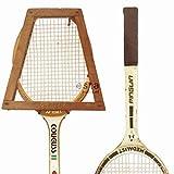 papel pintado XXL raquetas de tenis vintage blanco, marrón y beige - 158801 - de ESTAhome