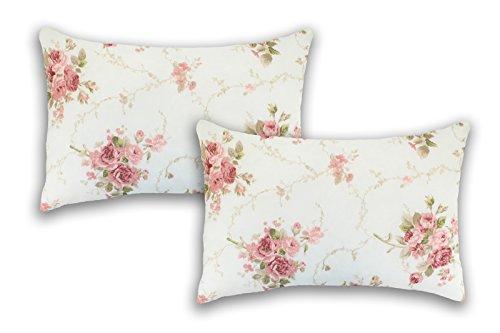 MERINO BETTEN Dekokissen mit Füllung Set | Zierkisen 50x70 | Couchkissen mit Reißverschluss für Wohn- und Kinderzimmer (Rosen Pink)