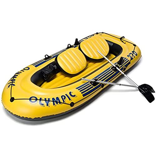 ZXQZ Kayak Kayak Inflable, Barco de Pesca de Turismo Plegable para 4 Personas con Toldo, Balsa de Canoa Engrosada Portátil para Adultos