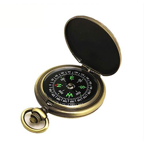 HCFSUK Brújula, Reloj de Bolsillo Vintage brújula de precisión brújula brújula brújula Resistente portátil Mini Aventura al Aire Libre Suministros para Acampar