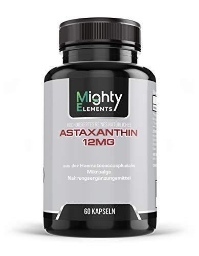 Astaxanthin 12 mg Kapseln - vegan - 4 Monatsvorrat - 60 Kapseln - hochdosiert - natürlich - sport - aus Deutschland