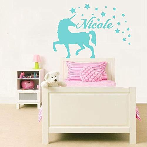 hetingyue Eenhoorn, personaliseerbaar, vinyl, wandlamp, voor kinderkamer, decoratie
