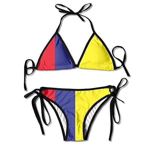 Columbia Flag Sexy Bikini Set Swimsuits Bathing Suits