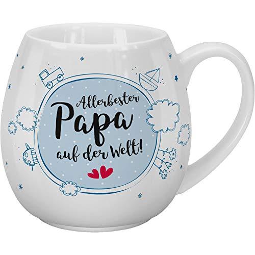 Sheepworld 46316 Teetasse mit Spruch Allerbester Papa, 45 cl, Porzellan, in Geschenk-Banderole Tasse