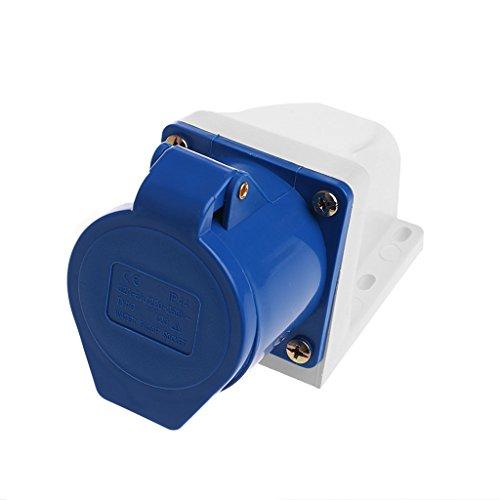 Buwei 32 Amp 3pin Industrial Enchufe 220V-250Volt Resistente a la Intemperie IP44 Impermeable 2P + T 32A
