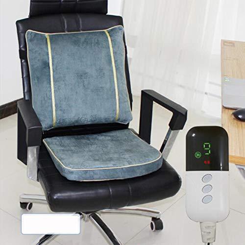 Bilgftg Elektrisch verwarmingskussen voor bureaustoel, wasbaar, elektrisch, met bescherming tegen oververhitting en automatische uitschakeling, verlicht rugpijn