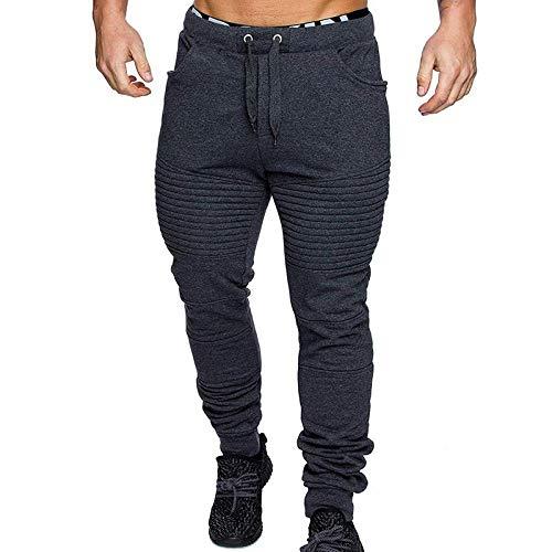 Pantalones de Camuflaje Casuales de Fitness Pantalones de Invierno para Hombre con Cierre de cordón cálido Pantalones de chándal de Camuflaje Pantalones Deportivos Deportivos de Gimnasia-Dark_Grey_M