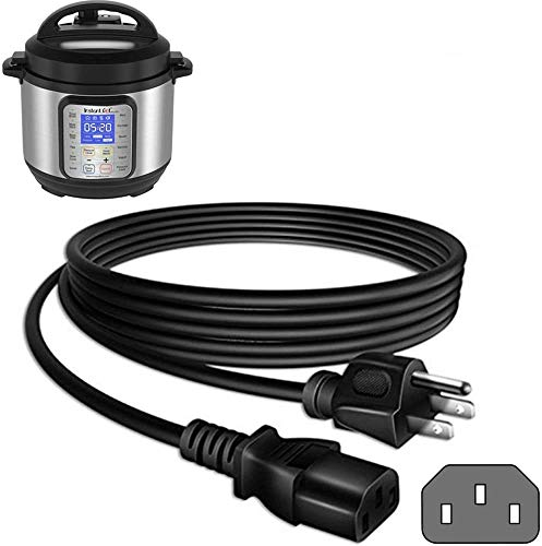 Zonefly Original Power Cord Compatible for Instant Pot Electric Pressure Cooker, Power Quick Pot, Rice Cooker, Soy Milk Maker, Microwaves and More Kitchen Appliances Replacement Cable