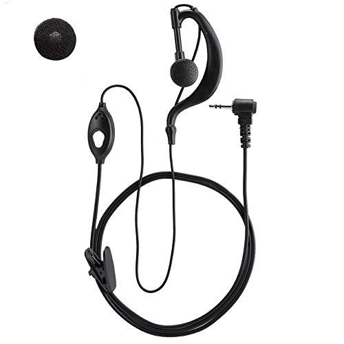 ASHATA Radio Headset, 2 Pezzi ABS T Head 1 Pin 2.5mm Plug Radio Walkie Talkie Cuffia Auricolare Adattatore per Motorola La Maggior Parte dei Modelli