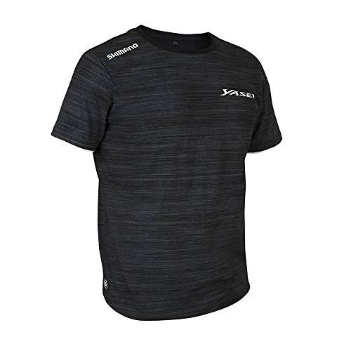 SHIMANO Yasei - Camiseta (Talla XL), Color Gris y Negro, M