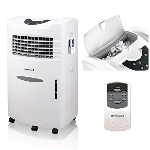 Honeywell 470-659 CFM Portable Remote Control – CL201AEW Indoor Evaporative Air Cooler, White