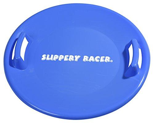 Slippery Racer Downhill Pro Saucer Disc Snow Sled, Blue