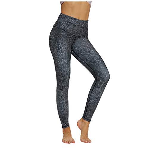 KEERADS - Leggins deportivos para mujer con bolsillos, opacos, pantalones de yoga, ropa de deporte Negro L