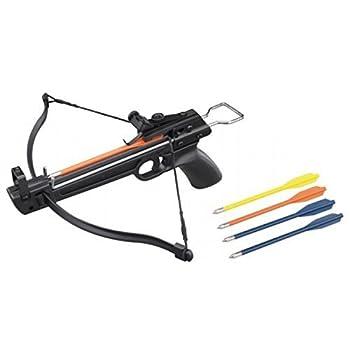 Crossbow 50 lb Mini Pistol Hand Held Gun Archery Hunting Cross Bow w/5 Arrows