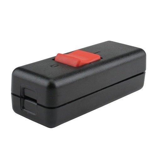 Meister Schnur-Zwischenschalter 2-polig, 10 A, Zugentlastung/Schutzleiterklemme, schwarz, 7441270