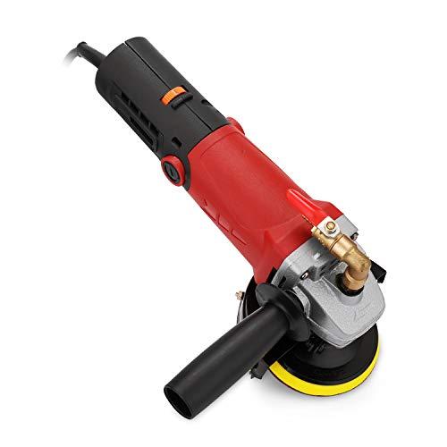 KKmoon polijstmachine polijstmachine watermolol hoekslijper voor steen beton marmer graniet 6 snelheid instelbaar